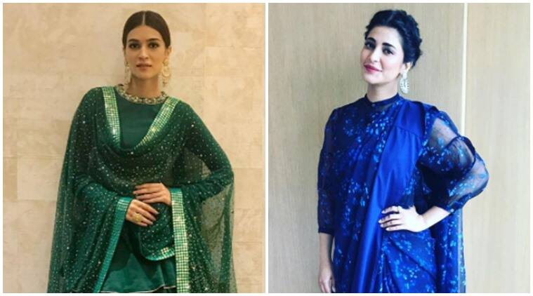 kriti sanon, shruti haasan, malaika arora, neha dhupia, navratri fashion, celeb fashion, bollywood fashion, indian express, indian express news