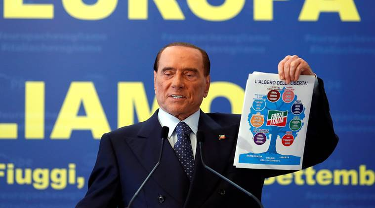Silvio Berlusconi, Italy, elections in Italy, Forza Italia, World news, indian express