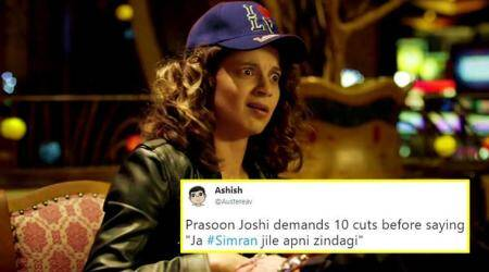 Kangana Ranaut's 'Simran' to get 10 cuts for loud 'sex' moans? Twitterati aren't pleased