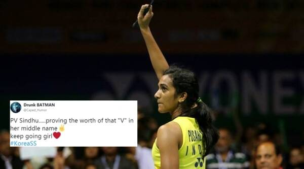 pv sindhu, pv sindhu wins korean open, pv sindhu korean win, sindhu creates history, twitter reactions, indian express, indian express news