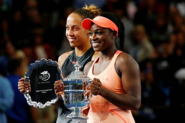 Sloane Stephens, Sloane Stephens US Open champion, Sloane Stephens vs Madison keys final, Sloane Stephens photos, Madison Keys photos, tennis photos, tennis, indian express