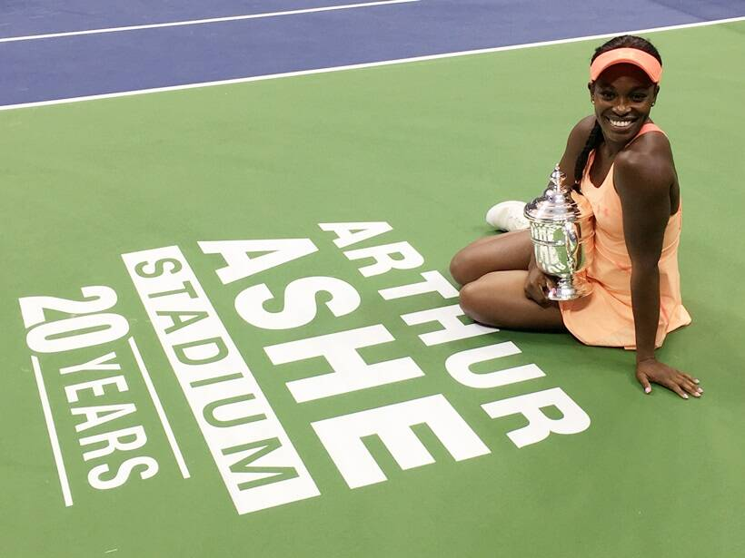Sloane Stephens, Sloane Stephens US Open champion, Sloane Stephens vs Madison keys final, Sloane Stephens photos, Madison Keys photos, tennis photos, tennis, indian express