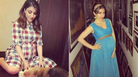Photos: Soha Ali Khan looks cute as a button in her latest pregnancy photoshoot