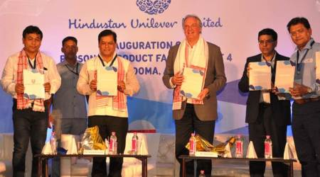CM  Sarbananda Sonowal unveils  Rs 1000 crore Unilever unit in Assam