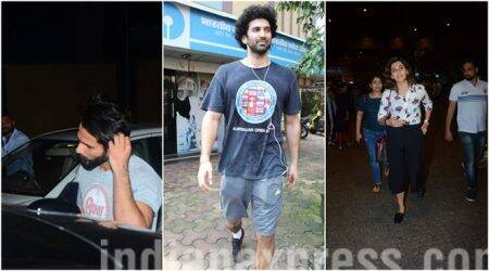 Celeb spotting: Shahid Kapoor and Aditya Roy Kapur work it out at gym, Taapsee Pannu, Shraddha Kapoor at the airport