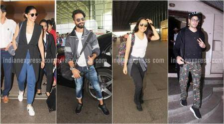 Celeb spotting: Deepika Padukone, Shahid Kapoor, Shraddha Kapoor and Siddharth Malhotra on the move