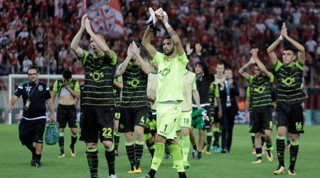 Sporting clinch 3-2 victory at Olympiakos in UEFA Champions League