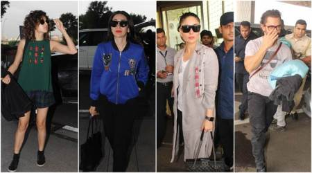 Celebrity spotting: Kareena Kapoor Khan, Karisma Kapoor, Taapsee Pannu and Aamir Khan rock airport look