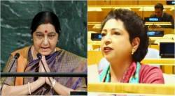 UNGA, united nations, sushma swaraj, pakistan ambassador, india, pakistan, Jammu and Kashmir, india news,