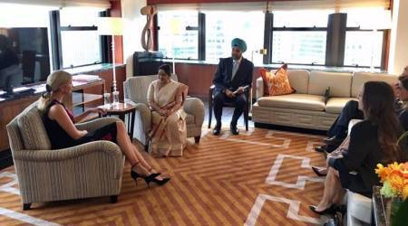 Sushma Swaraj meets Ivanka Trump in New York, discusses women entrepreneurship