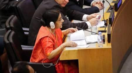 Sushma Swaraj, Sushma swaraj new york, terrorism, UNGA, United Nations, South Asia, EAM, India news, Indian express news
