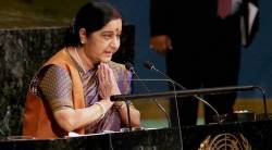 Sushma Swaraj, UNGA, sushma swaraj unga address, sushma swaraj unga speech, sushma swaraj on pakistan, united nations general assembly, india-pakistan, chinese media, china, world news, indian express news