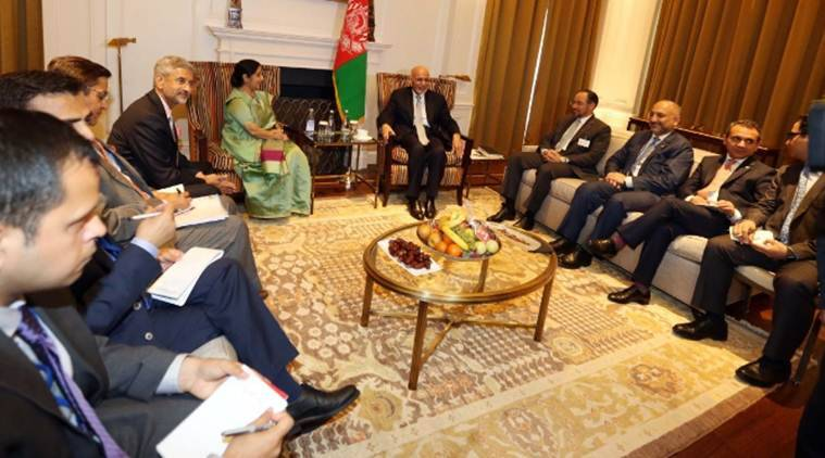 Sushma Swaraj & Afghan President discuss ways to boost strategic partnership