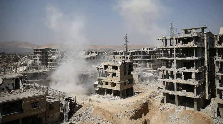Syria, Islamic State, ISIS, al-Mayadin, world news, indian express