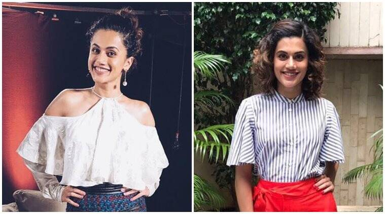 Taapasee Pannu, Judwaa 2, Judwaa 2 promotions, taapsee pannu style file, bollywood fashion, celeb fashion, fahion news, lifestyle news, indian express, indian express news