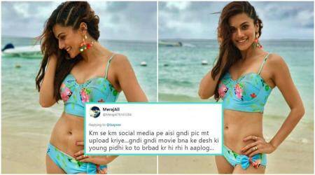 Taapsee Pannu's SASSY reply to a troll for her BEACH look is winning the Internet