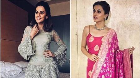 Judwaa 2 promotions: Taapsee Pannu gives festive fashion goals in traditional Indian wear