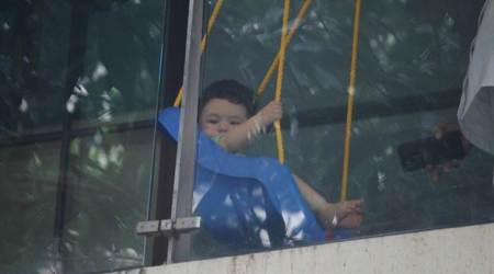 Photos: Taimur Ali Khan is chilling like a pro on his balcony