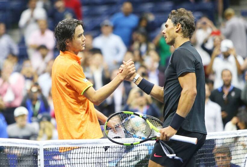 Rafael Nadal, US Open semifinal, US Open 2017, Rafael Nadal photos, Juan Martin Del Potro, tennis photos, tennis, indian express