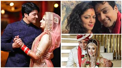 Television stars' weddings photos