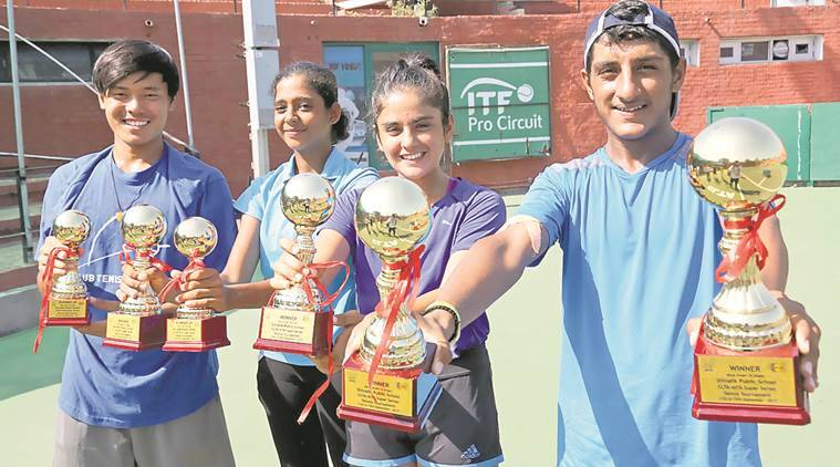 Krishan Hooda  Chandigarh, DAV Senior Secondary School Chandigarh, CLTA, Tennis news, Chandigarh news, Indian Express News
