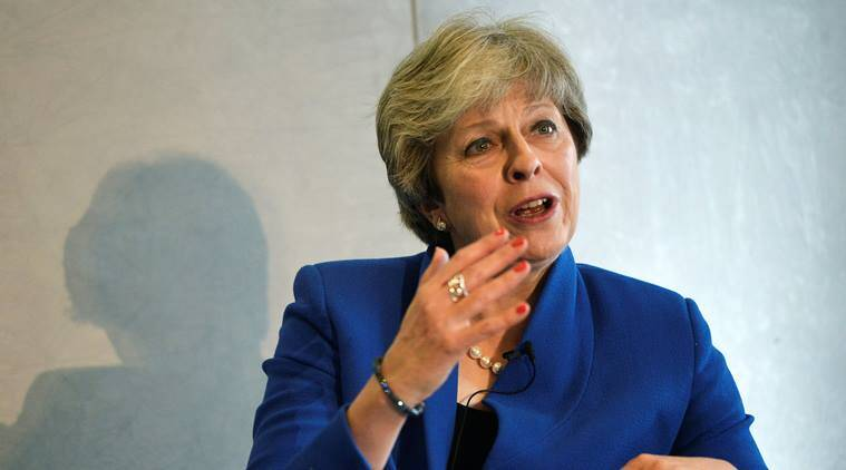 Theresa May,  European Union, Theresa May Estonia Visit, Brexit, Brexit talks, EU, World news, Indian Express News
