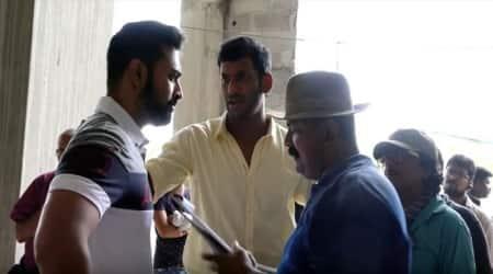 Watch Vishal, Mysskin's camaraderie on the sets of Thupparivaalan