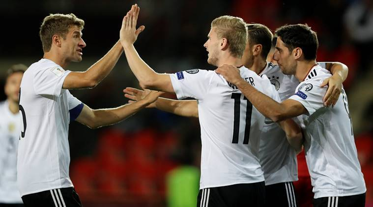 Germany thrash Norway, England survive Slovakia scare in World Cup qualifiers