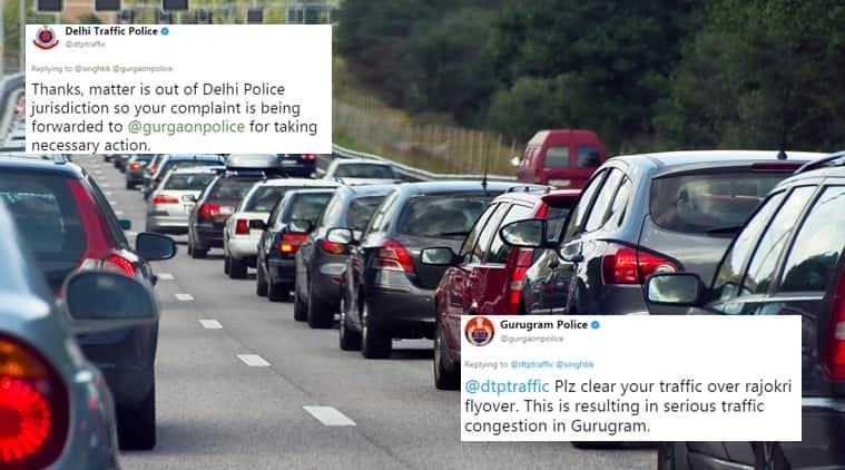 Delhi Traffic Police And Gurugram Police Play Blame Game Over