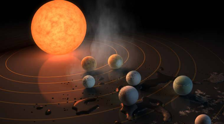 TRAPPIST-1, Hubble telescope, Earth-like planets, water-containing planets, ultracool dwarf star, habitable planets, photodissociation, water splitting, UV rays, X-rays, TRAPPIST-1 exoplanets, space news