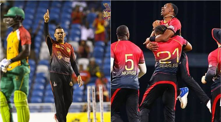 Live Cricket Score, CPL 2017 Final Trinbago Knight Riders vs St Kitts and Nevis Patriots: Patriots lose regular wickets
