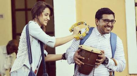 Trisha and Nivin Pauly look like they are having a whale of a time on the sets of Hey Jude. See photos