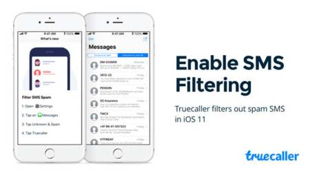 Apple, Apple iOS 11, iOS Truecaller update, iOS 11 Truecaller feature, Truecaller Spam Message, Truecaller iOS, Truecaller Spam message detection, Spam filtering in iOS 11
