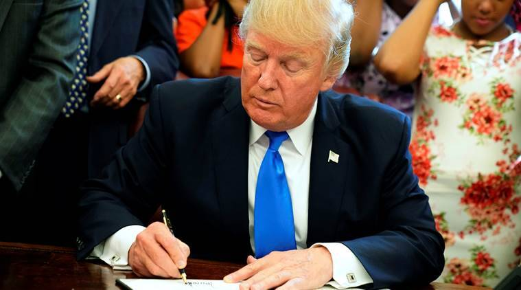 President Donald Trump, Trump healthcare order , Obamacare law, US healthcare bill, White House, USA News, World News, Indian Express News
