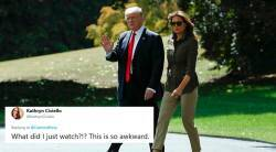 donald trump, melania trump, trump melania handshake, trump melania awkward moments, Twitter trump trolling, trumpshake, viral videos, indian express