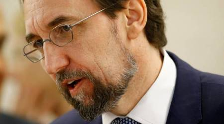 "UN rights boss sees possible ""crimes against humanity"" in Venezuela"
