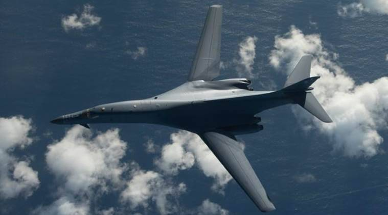 north korea, us and North Korea, President Donald Trump, US Air Force B-1B Lancer bombers, B-1B Lancer bombers, US bomber fly off North Korea base, North Korea news, us news, World news, international affairs news, latest news