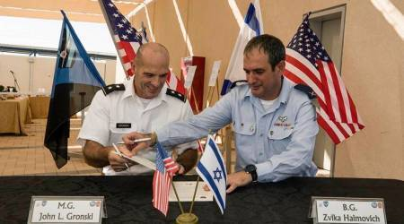 Israel and US open first American military base in Israel