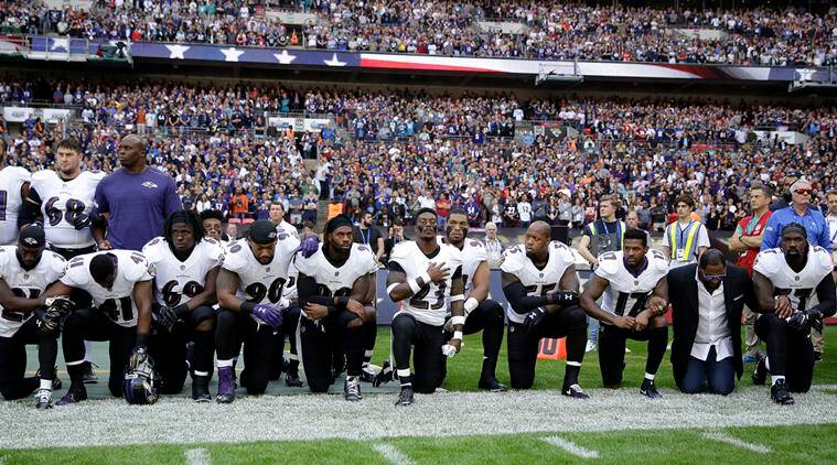 NFL Players national anthem, NFL Players take a knee, Taking a knee, US National Anthem, Donald Trump, USA News, Indian Express News