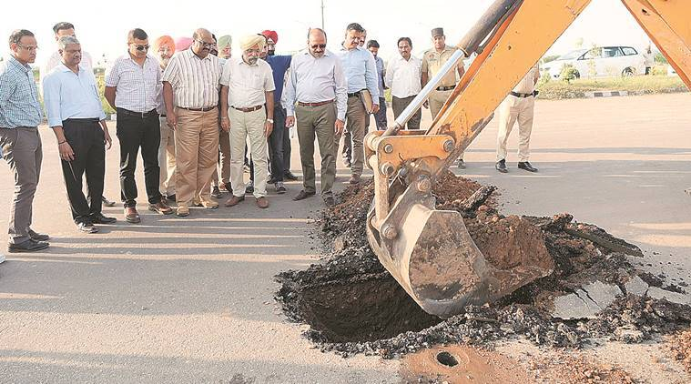 Punjab Vigilance Bureau(VB), Greater Mohali Area Development Authority(GMADA), Airport road Chandigarh, Chandigarh news, Indian Express news