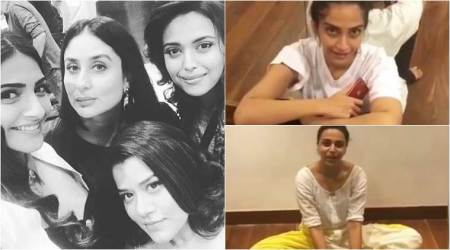 Veere Di Wedding behind the scenes video: Sonam Kapoor and Swara Bhaskar are finding it tough to rehearse for a dance number