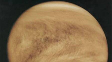 Venus, Venus cloud patterns, Japan Aeronautics and Exploration Agency, Javier Peralta, Venus' topography, Venus' atmosphere, European Space Agency, Venus Express, Venus Express VIRTIS, Venus' night side phenomena
