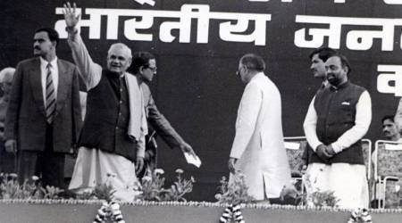Vijay Goel shares throwback photo with Atal Bihari Vajpayee