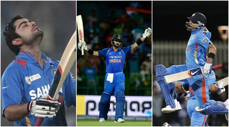 Virat Kohli, Sachin Tendulkar, Brian Lara, Ricky Ponting, Virat Kohli, records, Virat Kohli ODIs, Virat Kohli hundreds, cricket news, indian express