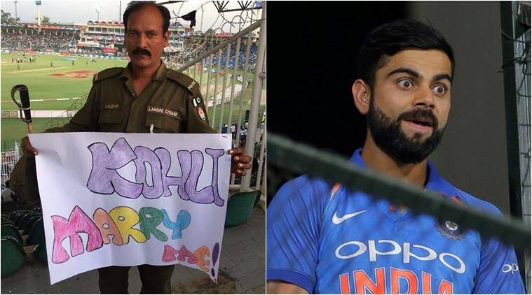 virat Kohli, Pakistan, world xi vs pakistan, pakistan world xi match, kohli marriage proposal pakistan, pak kohli fan marriage proposal, sports news, indian express, odd news, viral news