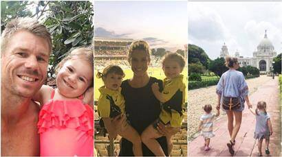 Off the field, David Warner spends quality time with wife Candice and daughters