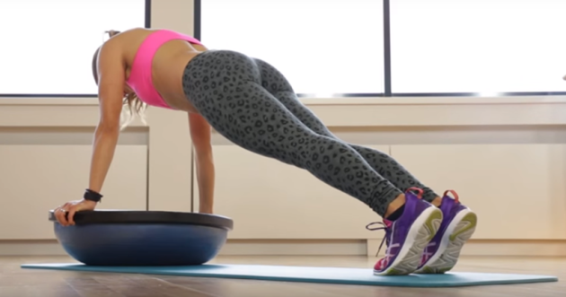 bosu ball trainng, cardio on bosu, balance training on bosu, flexibility bosu, inexpensive workout, workout at home, exercise for back pain, workout for core strength, indian express, indian express news