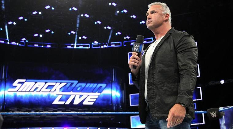 wwe smackdown live, wwe smackdown results, shane mcmahon, kevin owens, kevin owens vs shane mcmahon, wwe smackdown photos, wwe news, sports news, indian express