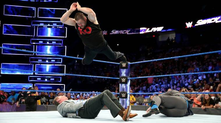 wwe smackdown, wwe smackdown results, kevin owens vs shane mcmahon, vince mcmahon, wwe photos, wwe videos, sports news, indian express