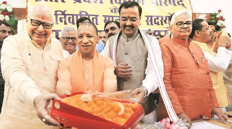 CM Yogi, KP Maurya, Dinesh Sharma take oath as MLCs